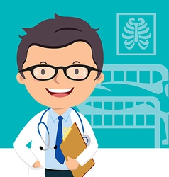 Confident medical doctor vector image vector image