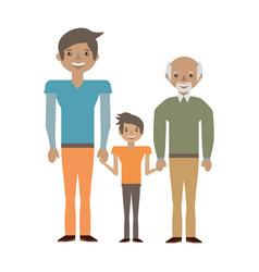 family elder son vector image vector image