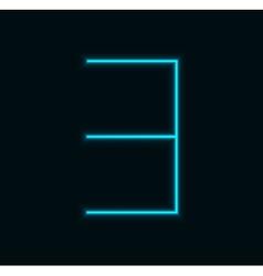 modern neon number on black background vector image
