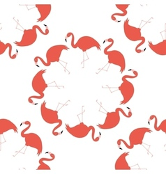Seamless flamingo pattern vector