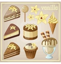 Set of sweets vanilla vector image vector image