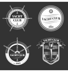 Set of Yacht club logo vector image