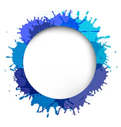 Speech Bubble With Blue Blob vector image vector image
