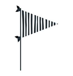 Dark blue color silhouette decorative flags party vector