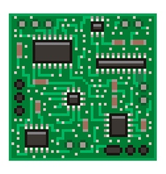 Pixel microchip isolated vector image vector image