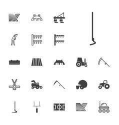 22 field icons vector