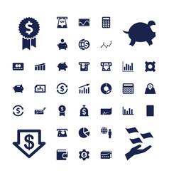 37 economy icons vector image