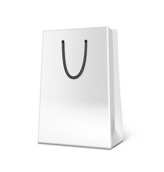 3d white paper luxury bag on background vector