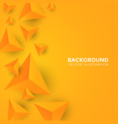 Abstract shiny yellow triangle background 3d vector