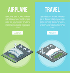 airplane and travel banners vector image