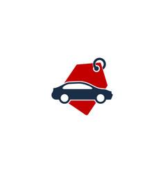 automotive shopping logo icon design vector image
