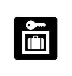 Baggage Lockers Sign vector