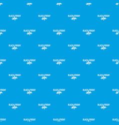Black friday pulse pattern seamless blue vector
