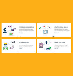 Business communication and marketing email vector