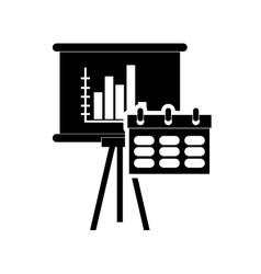 Calendar and graph chart icon vector
