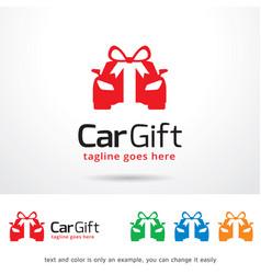 car gift logo template vector image