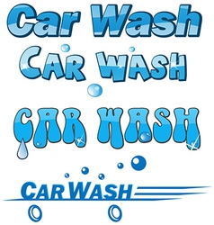 Car wash symbol set vector