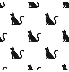 cat goddess bastet icon in black style isolated on vector image