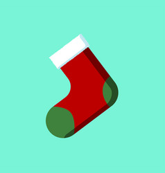 christmas sock icon sign symbol vector image