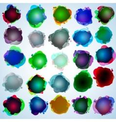color speech bubbles collection eps 10 vector image
