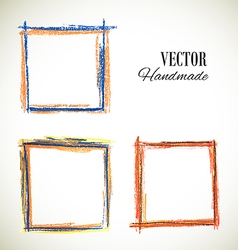 colorful set of frame vector image
