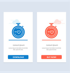 Compass love heart wedding blue and red download vector