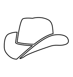 cowboy hat black color icon vector image
