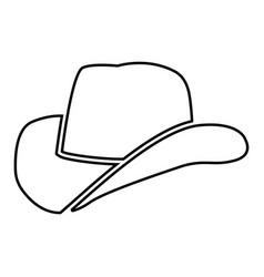 Cowboy hat black color icon vector