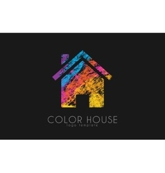 Creative house logo Color house design Home logo vector