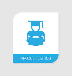Editable filled product listing icon from vector