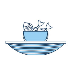 fishing bucket with boat vector image