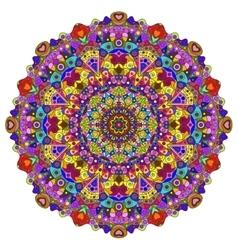 full color mandala vector image
