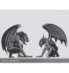 gothic gargoyles set vector image