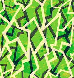 Green mosaic geometric seamless pattern with vector
