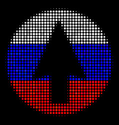 Halftone russian rounded arrow icon vector