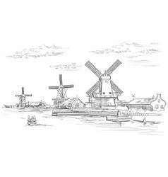 Hand drawing holland 2 vector