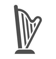 harp glyph icon music and ancient instrument vector image