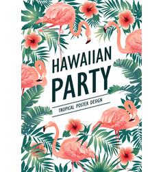 Hawaiian party vector