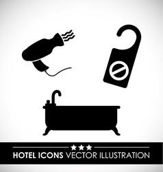 Hotel design vector