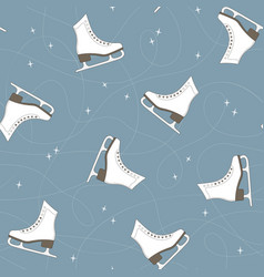 Ice skates seamless background vector