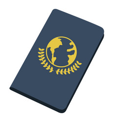 isolated passport icon vector image