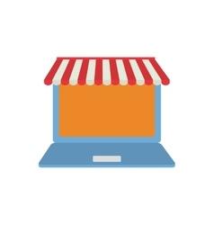 laptop shopping online virtual technology vector image