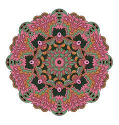 Mandala zentangl round ornament relax oriental vector