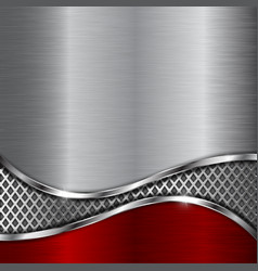 metal background with steel perforated wave vector image