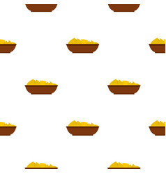 Mexican nachos in brown bowl pattern seamless vector