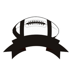 Monochrome football ball and ribbon vector