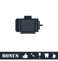 Motor icon flat vector image