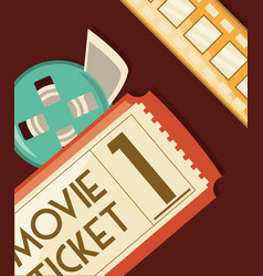 Movie ticket design vector