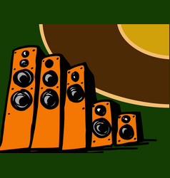 music shop a range speaker systems vector image