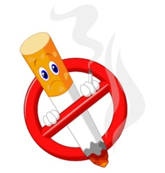 No smoking cartoon symbol vector image